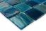 Gạch mosaic thủy tinh màu xanh pha trộn